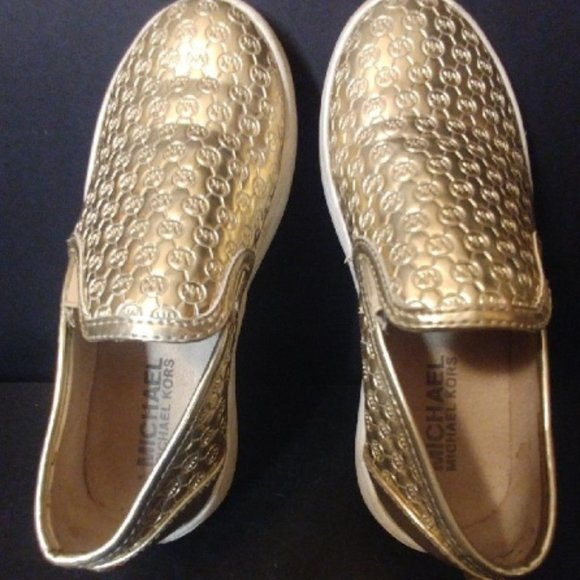 Michael Kors Shoes | Girls Gold Sz 12